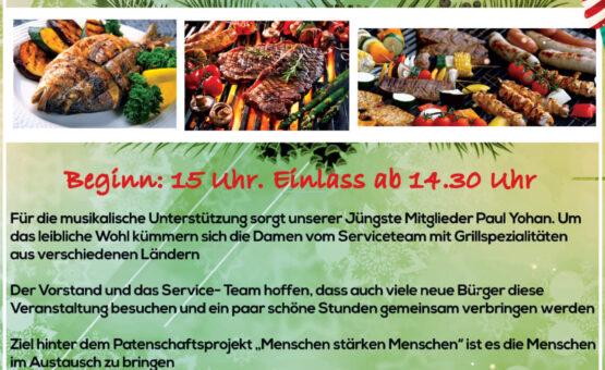 """Grillfest im Rahmen des Patenschaftsprojekts """"Hope for the Future"""""""
